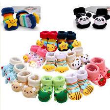 Baby Boy Girl Anti-slip Socks Cartoon Newborn Slipper Shoes Boots 0-12 Months