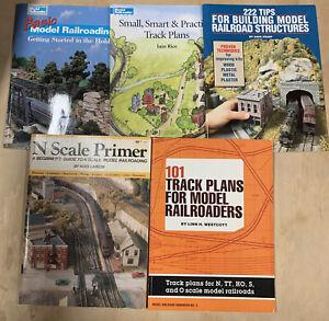 5 Model Railroading Trains Books Basic 222 Tips N Scale Primer 101 Track Plans