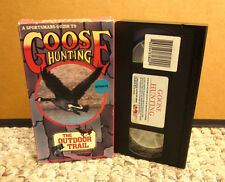 """GOOSE HUNTING Wayne Pearson VHS Snow Geese """"Outdoor Trail"""" specklebellies Texas"""