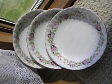 Regency Rose China 3 Berry Bowls