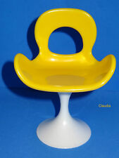 YELLOW Pop-Life Barbie Chair VHTF LE  MINT Condition f. Fashion Royalty Poppy
