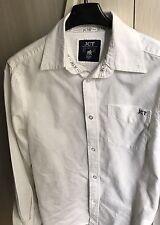 Camicia bianca junior JCT - Ragazzo Maniche Lunghe Con Logo ... Cotone