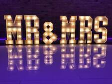 Large 5ft Light Up letters for sale Wood 5ft MR & MRS  Cabochon #weddings #event