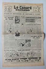 ANCIEN JOURNAL -  LE CANARD ENCHAINE N° 1792 DU 23 FEVRIER 1955 *