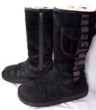 UGG Australia S/N 1895 nero delle donne/ragazze Stivali al Polpaccio in Pelle UK3.5 EU36