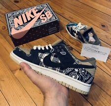 Read Description! Special Box Nike Sb Dunk Low X Travis Scott Bandana  9.5 Us
