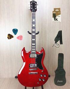 Haze SEG-275TR Premium SG Electric Guitar - Cherry Red + Free Gig Bag