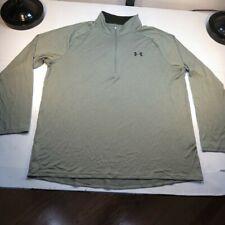 Under Armour Heat Gear Loose 1/4 Zip Sweatshirt Shirt Sz Mens Xxl Green