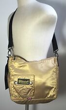 Authentic Belstaff Half Moon Bag Messenger Shoulder Cross Body Gold
