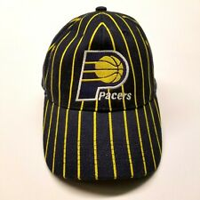 Official NBA Indiana Pacers Youth Blue Yellow Stripe Basketball Cap Hat EUC