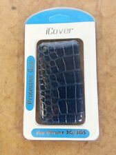 iCover Blue Snakeskin iPhone 3G 3GS Case Cover Fitted Case Brand New 2E