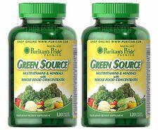 Puritans Pride Green Source Multivitamins Minerals vegatarian supplement 240 cap