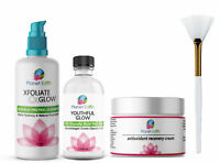 70% Glycolic Acid Skin Peel Kit + Glycolic Cleanser + Recovery Cream + BRUSH