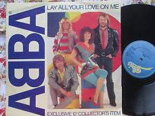 ABBA Lay All Your Love On Me Epic records  EPC A 13 1456 UK 12inch Maxi-Single