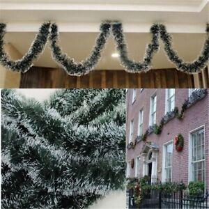 2M Christmas Garland Xmas Fireplace Tree Decoration Pine Green Ribbon Wreath DIY