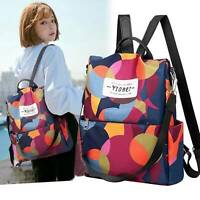 Women Anti-theft Travel Waterproof Oxford Cloth Backpack Shoulder Bag New UK
