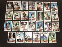 1980 Topps BALTIMORE ORIOLES Complete TEAM Set JIM PALMER Eddie MURRAY Tippy Mar