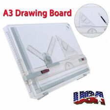 A3 Drafting Drawing Board Adjustable Angle Stencil Ruler Table Sketch Tool Us