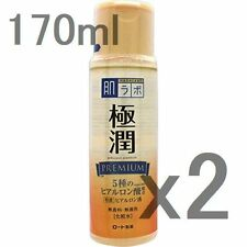 Lot2! Gokujyun premium hyaluronic acid lotion 170ml x2, Rohto Hadalabo Japan