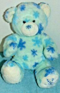 2009 Build a Bear Blue White Snowflake Plush