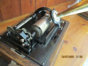 A Edison Standar cylinder phonograph with 2 & 4 minute gearing & repro horn