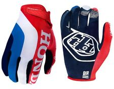 GUANTI MOTO ENDURO CROSS TROY LEE DEISDN TLD AIR GLOVE HONDA RED BLU TG L