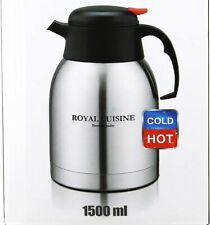 1.5 Litre Flask Thermos Stainless Steel vacuum Jug Hot & Cold Silver & Black
