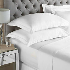 400 Thread Count Egyptian Quality Sateen Superking Size Fitted Sheet in White