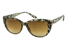 Aqua Tortoiseshell Cateye Sunglasses For Women Brown Graduated Lens 100% UV
