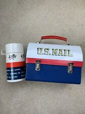 Vintage US Mail Mr Zip Dome Metal Lunch Box W/Thermos 1969