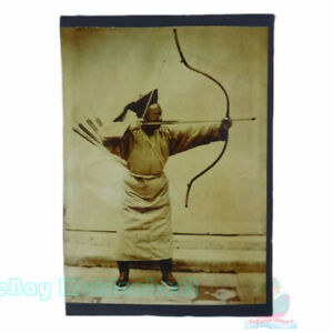 """Matted 8""""x6"""" Old Photograph an archer in Late Qing Dynasty China before 1900s"""