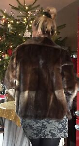 Stunning Real Mink Fur Jacket Excellent Condition Size M-L / 12