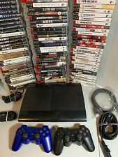 Playstation 3 PS3 Super Slim Console Controllers Video Game System Bundle 250gb+