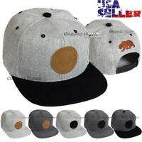 Baseball Caps California Republic Hat Snapback Adjustable Flat Hip Hop Mens Cap