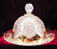 Scalloped Six Points Butter Dish Duncan Miller #30 Early American Pattern Glass
