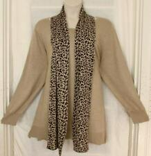 Avenue $59 Camel LONGER Sweater with Removable Reversable Scarf 4X 26/28 NWT