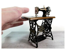 Dollhouse 1/12 scale Metal Antique Sewing Machine