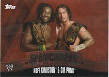 2010 TOPPS WWE Championship Material CM Punk & Kofi Kingston