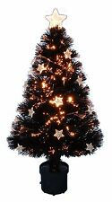 32 Inch Black Fibre Optic Christmas Tree With Stars (FO8)