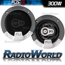 "FLI FI4 4"" 10cm 3 way Car Coaxial Door/Shelf/Dash Speakers 300W Pair"