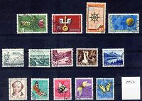 SCHWEIZ - Jahrgang 1954 - Nr. 593-606 - GESTEMPELT komplett - ANSEHEN