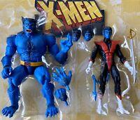BEAST & NIGHTCRAWLER 2019 Lot - Marvel Legends X-Men No Caliban BAF Hank McCoy