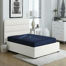 Full Size Bunk Bed Mattress 6 Inch Quilted Top Bedroom Foam Comfort Dorm Blue