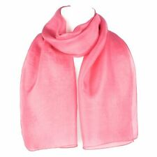 Plain Pure Silk Scarf Shawl Wrap Salmon Pink