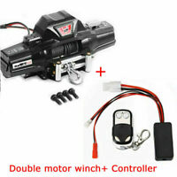 1/8Metal Crawler Double Motor Winch for Rock RC4WD D90 Axial SCX10 TRX-4 KM2 BUS