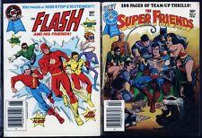 Flash, Super Friends PAIR UNREAD DC Blue Ribbon Digest PB Books 1979 JLA Lantern