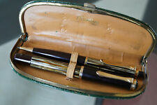 Vintage PELIKAN 400 / 450 Fountain and pencil set in croco leather etui - Nice