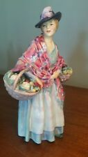 """Rare Royal Doulton """"Romany Sue"""" Woman with Flowers Figurine Hn1757 1940s"""