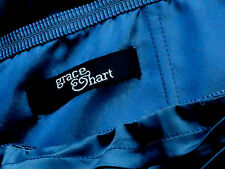 GRACE & HART TealStraplessBandageSatinMiniPartySize10 as NEW