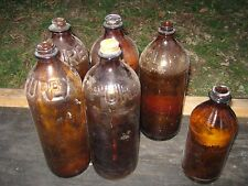 6 pcs Vintage Used Assorted Brown Empty Bottle 32 Oz  Clorox Purex Bottles